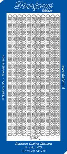 1 pk 10 vl stickers borders 21 gold 1076001 10x23cm