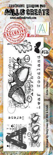 aall create stamp acorn collage aalltp536 73x205cm 0921