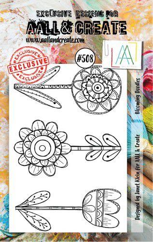 aall create stamp blooming doodles aalltp508 73x1025cm 0921