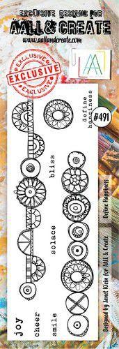 aall create stamp define happiness aalltp491 73x1025cm 0921