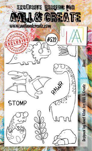 aall create stamp dinos aalltp522 15x10cm 0921