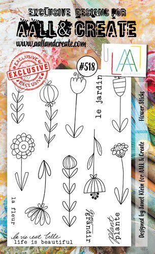 aall create stamp flower sticks aalltp518 15x10cm 0921