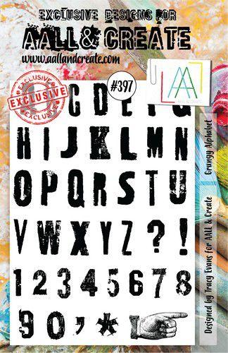aall create stamp grungy alphabet aalltp397 146x20cm