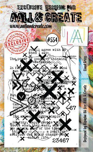 aall create stamp lined cross aalltp554 15x10cm 0921
