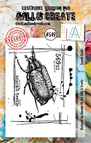 aall create stamp scarab beetle aalltp549 73x1025cm 0921