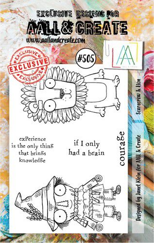 aall create stamp scarecrow lion aalltp505 73x1025cm 0921