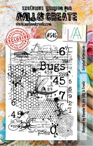 aall create stamp scripted arthropods aalltp545 73x1025cm 0921