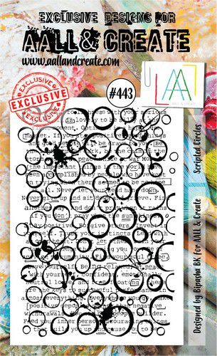 aall create stamp scripted circles aalltp443 15x10cm