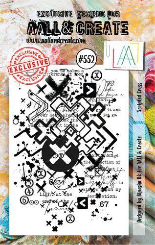 aall create stamp scripted cross aalltp552 15x10cm 0921