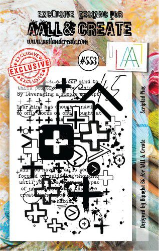 aall create stamp scripted plus aalltp553 15x10cm 0921