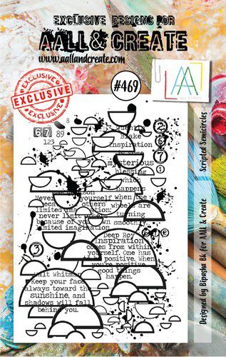 aall create stamp scripted semicircles aalltp469 73x1025cm