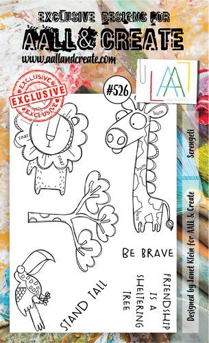 aall create stamp serengeti aalltp526 15x10cm 0921