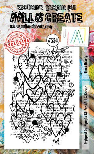 aall create stamp set lined hearts aalltp534 15x10cm 0921