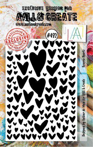 aall create stamp set reverse heartz aalltp492 73x1025cm 0921