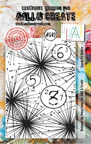 aall create stamp sparks of nature aalltp542 73x1025cm 0921