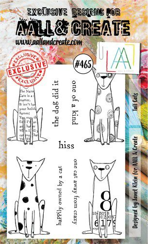aall create stamp tall cats aalltp465 15x10cm