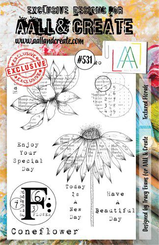 aall create stamp textured florals aalltp531 146x20cm 0921