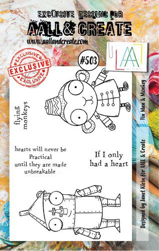 aall create stamp tin man monkey aalltp503 73x1025cm 0921