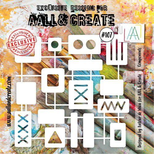 aall create stencil components aallpc107 15x15cm