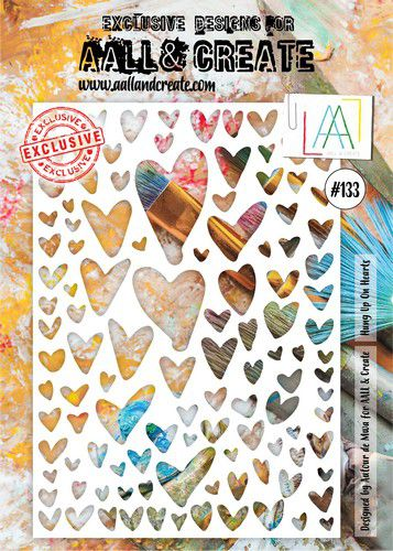 aall create stencil hung up on hearts aallpc133 a4 0921
