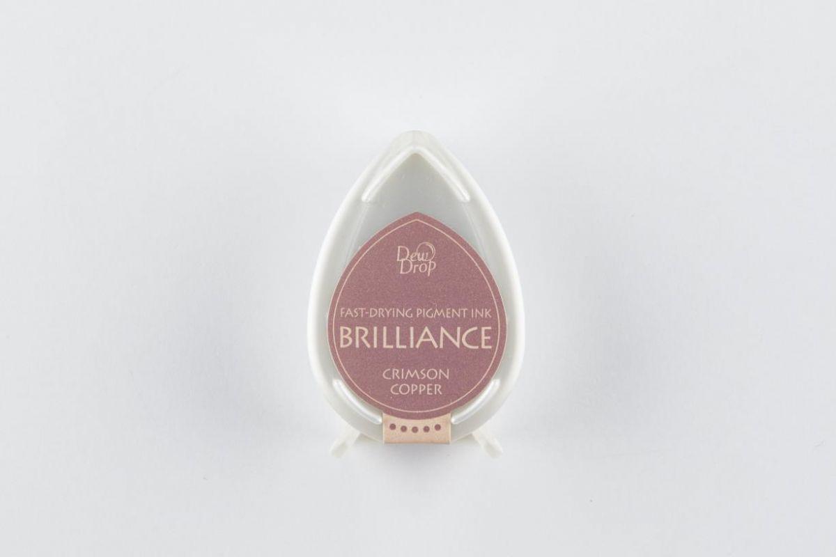 brilliance dew drop inkpad crimson copper bd000097