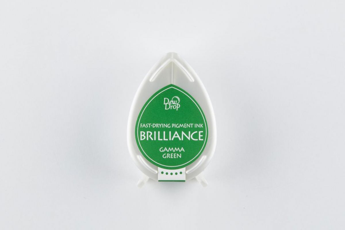brilliance dew drop inkpad gamma green bd000021