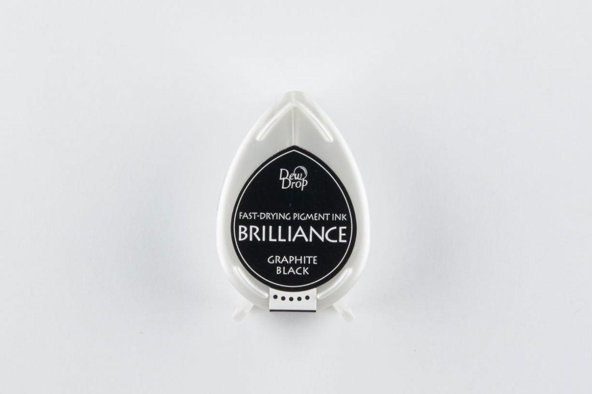 brilliance dew drop inkpad graphite black bd000082