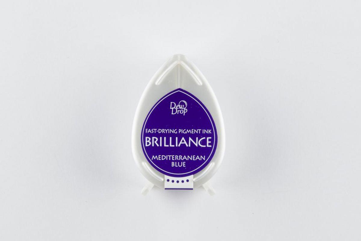 brilliance dew drop inkpad mediterrenian blue bd000018