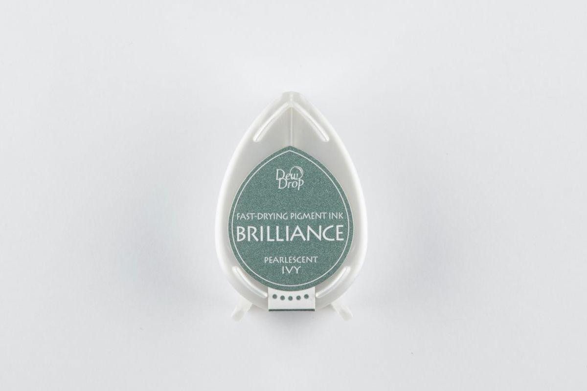 brilliance dew drop inkpad pearlescent ivy bd000064