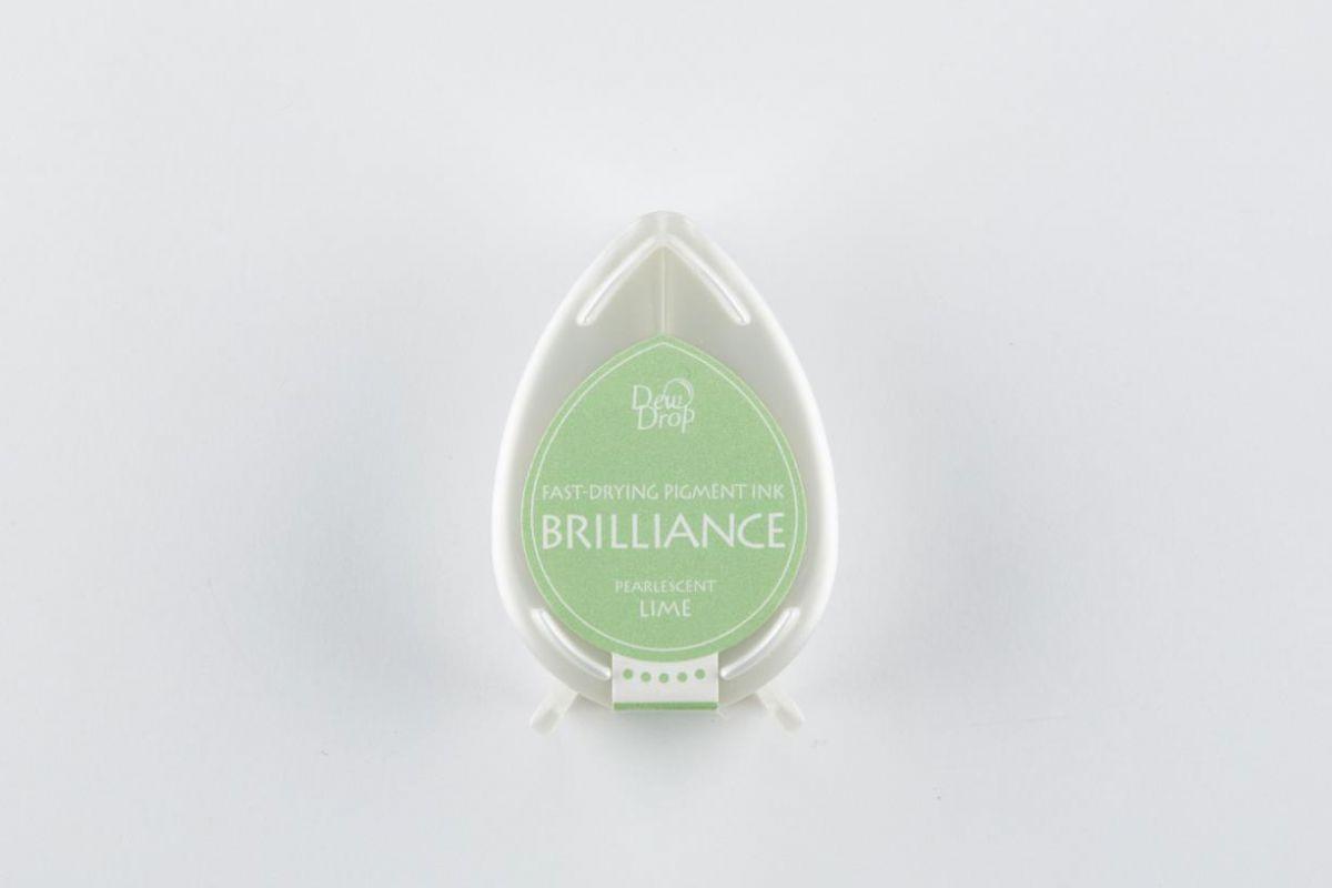 brilliance dew drop inkpad pearlescent lime bd000042
