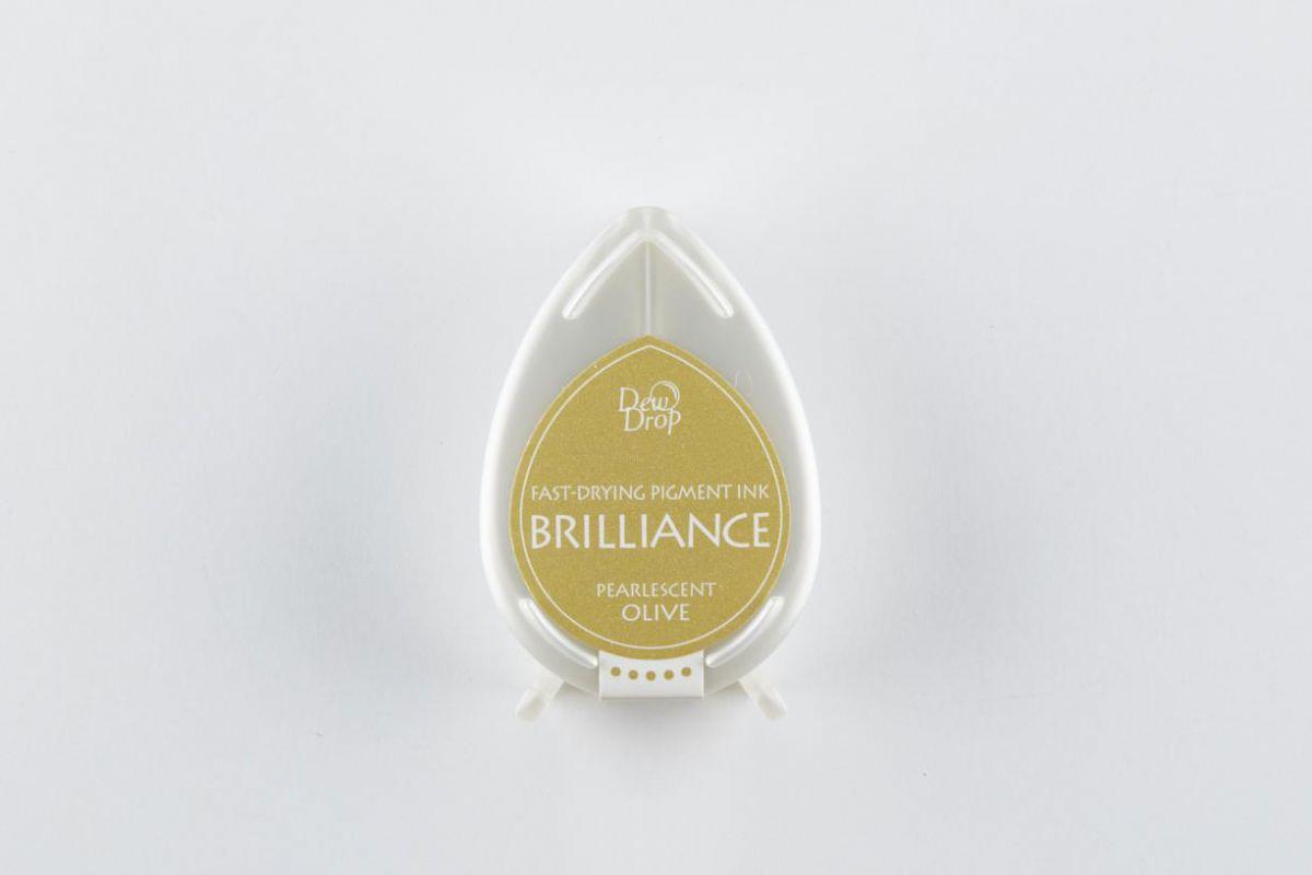 brilliance dew drop inkpad pearlescent olive bd000053
