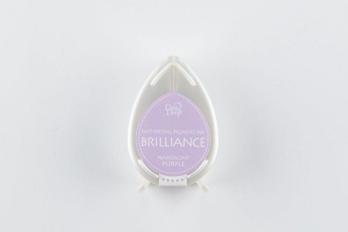 brilliance dew drop inkpad pearlescent purple bd000036