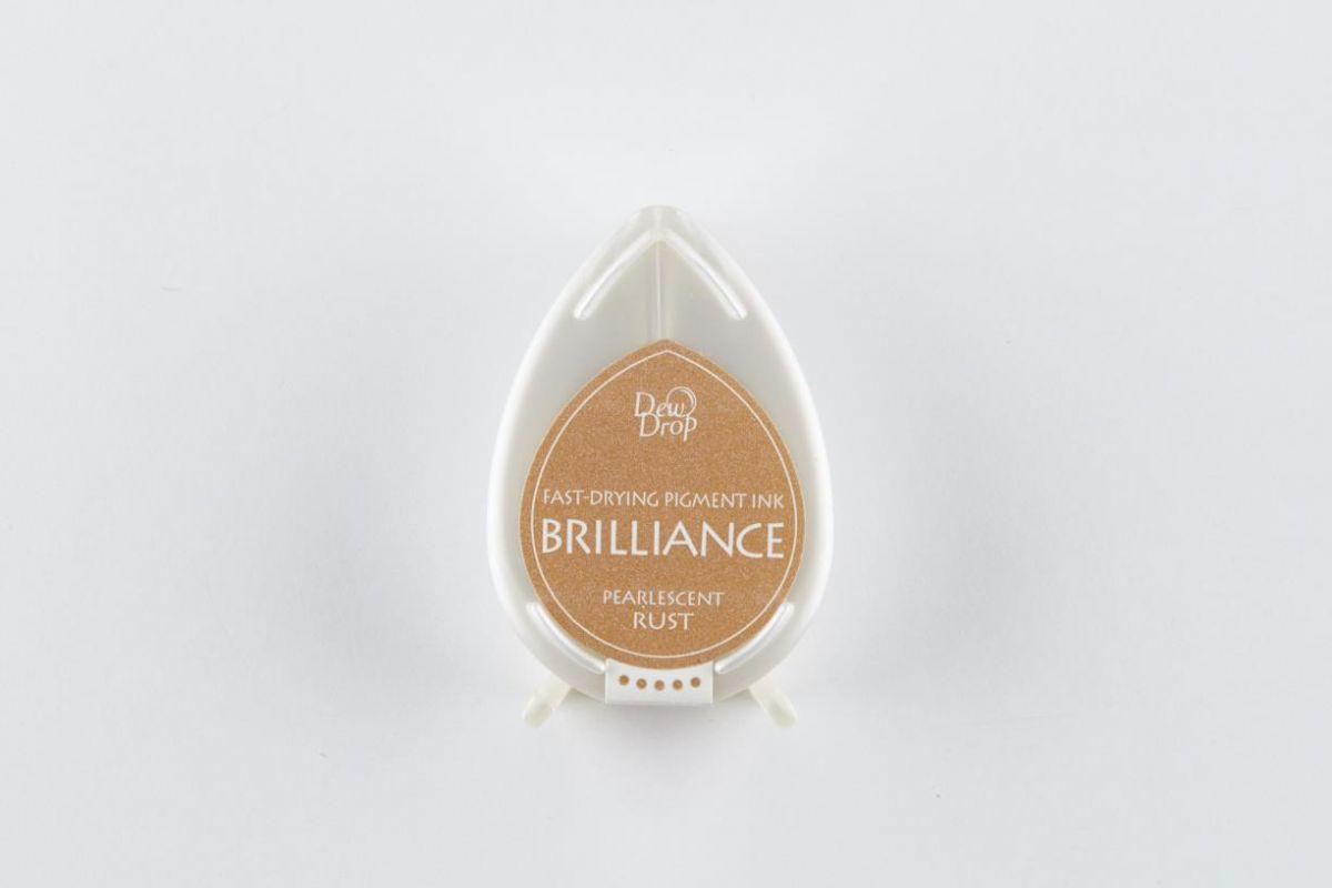 brilliance dew drop inkpad pearlescent rust bd000061