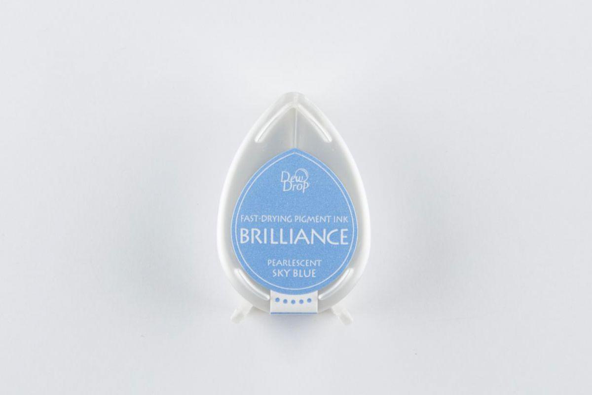 brilliance dew drop inkpad pearlescent sky blue bd000038