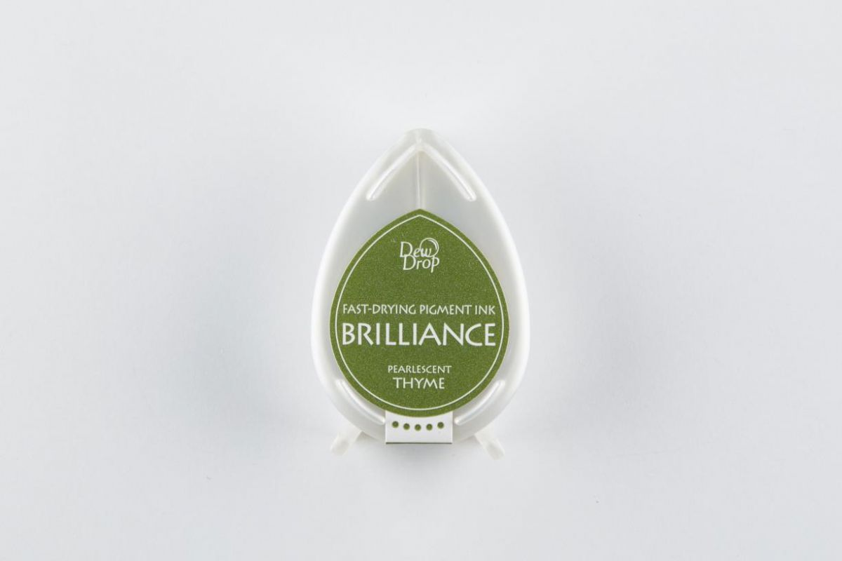 brilliance dew drop inkpad pearlescent thyme bd000075