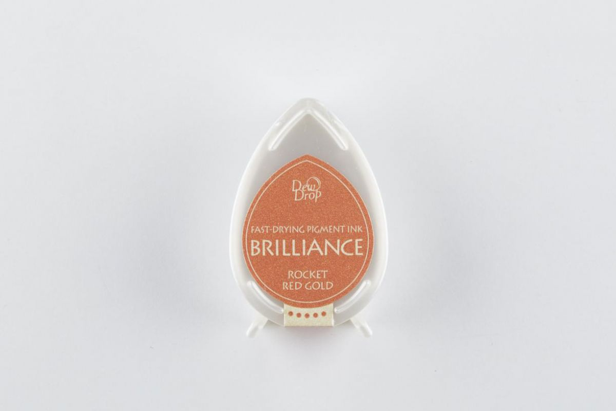 brilliance dew drop inkpad rocket red gold bd000096