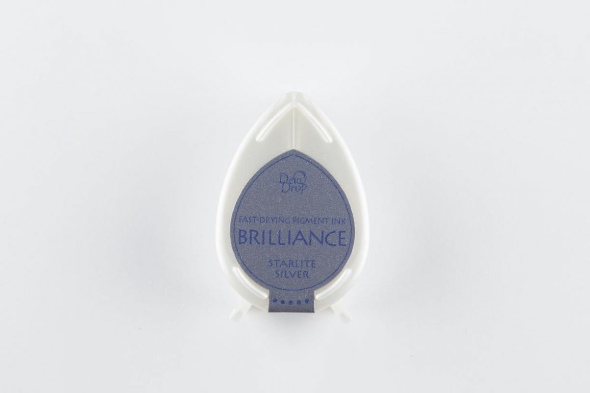 brilliance dew drop inkpad starlite silver bd000093