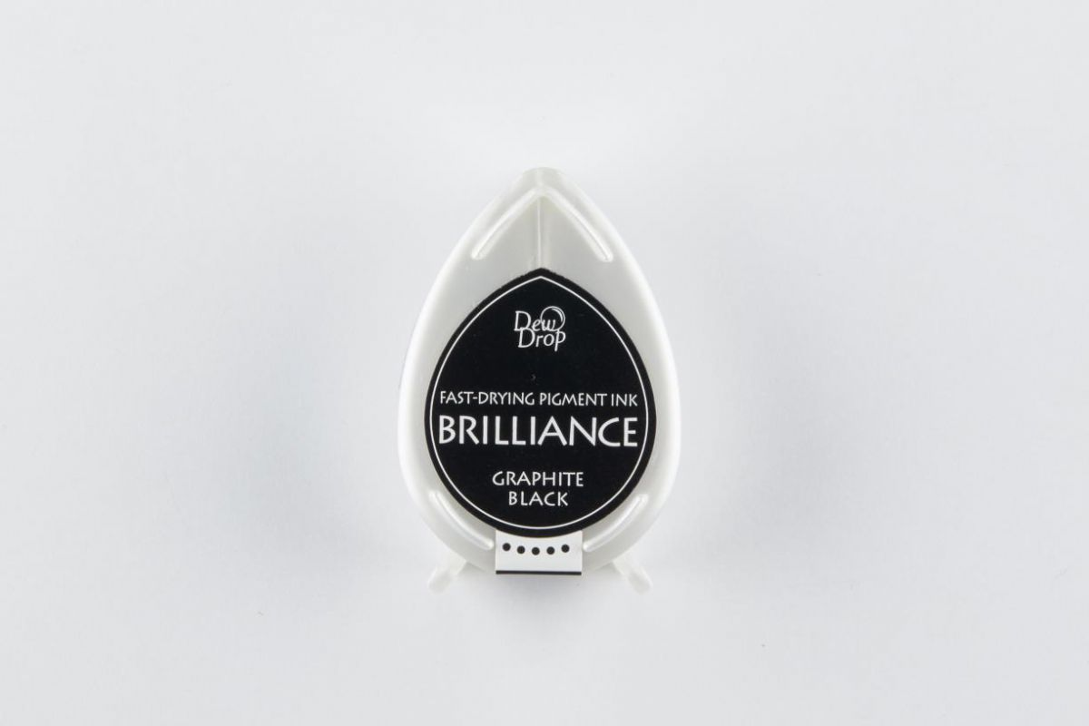 brilliance dew drop inktkussen graphite black bd000082