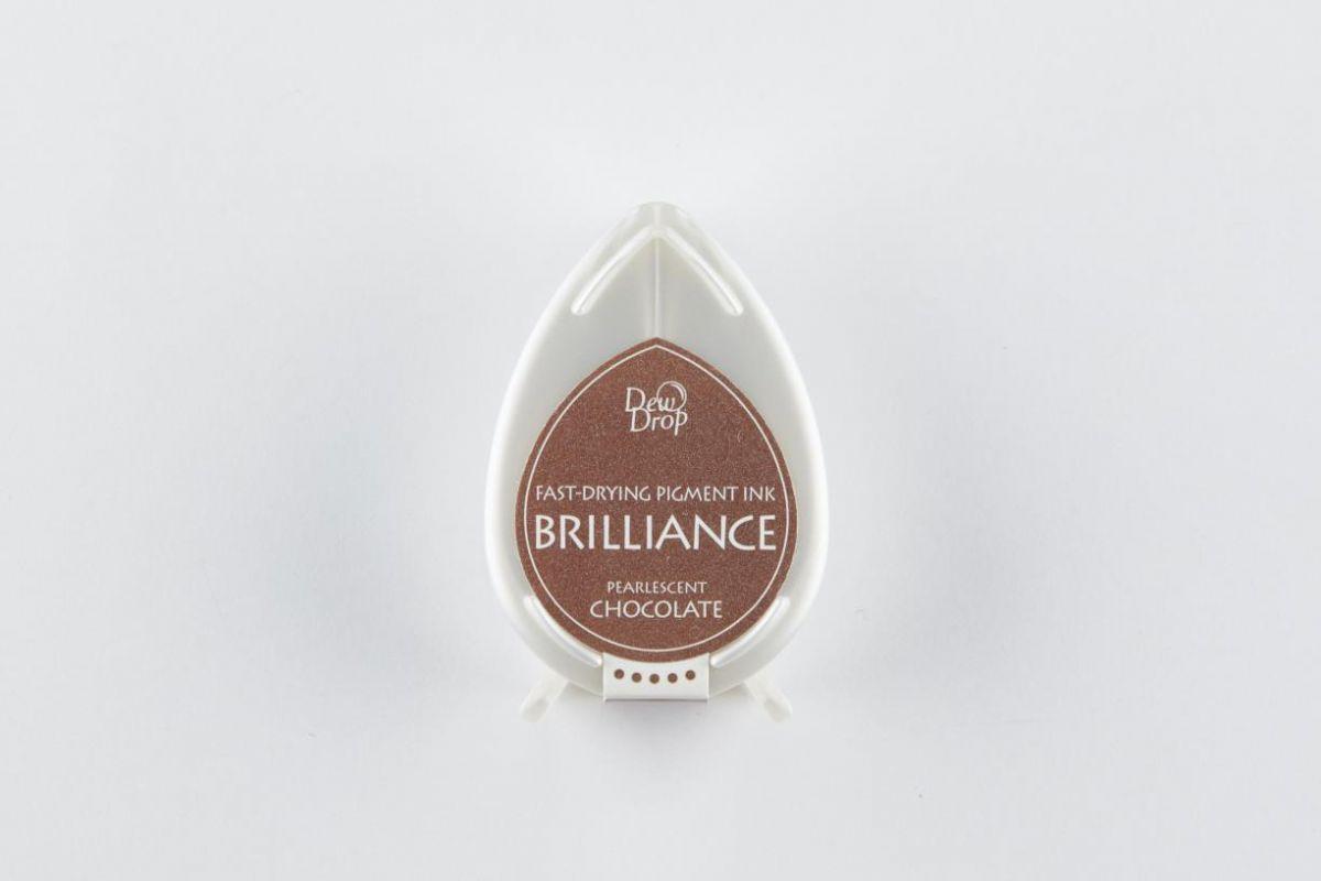 brilliance dew drop inktkussen pearlescent chocolate bd000076