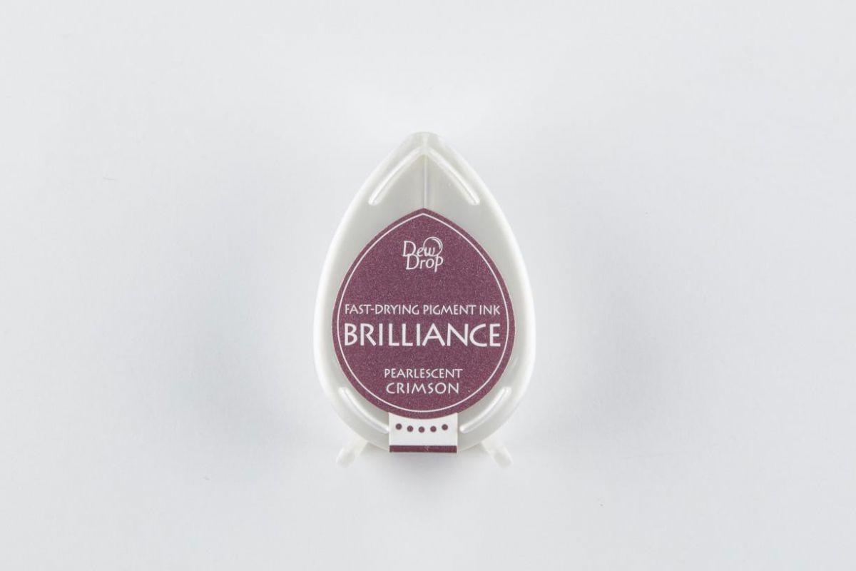 brilliance dew drop inktkussen pearlescent crimson bd000062