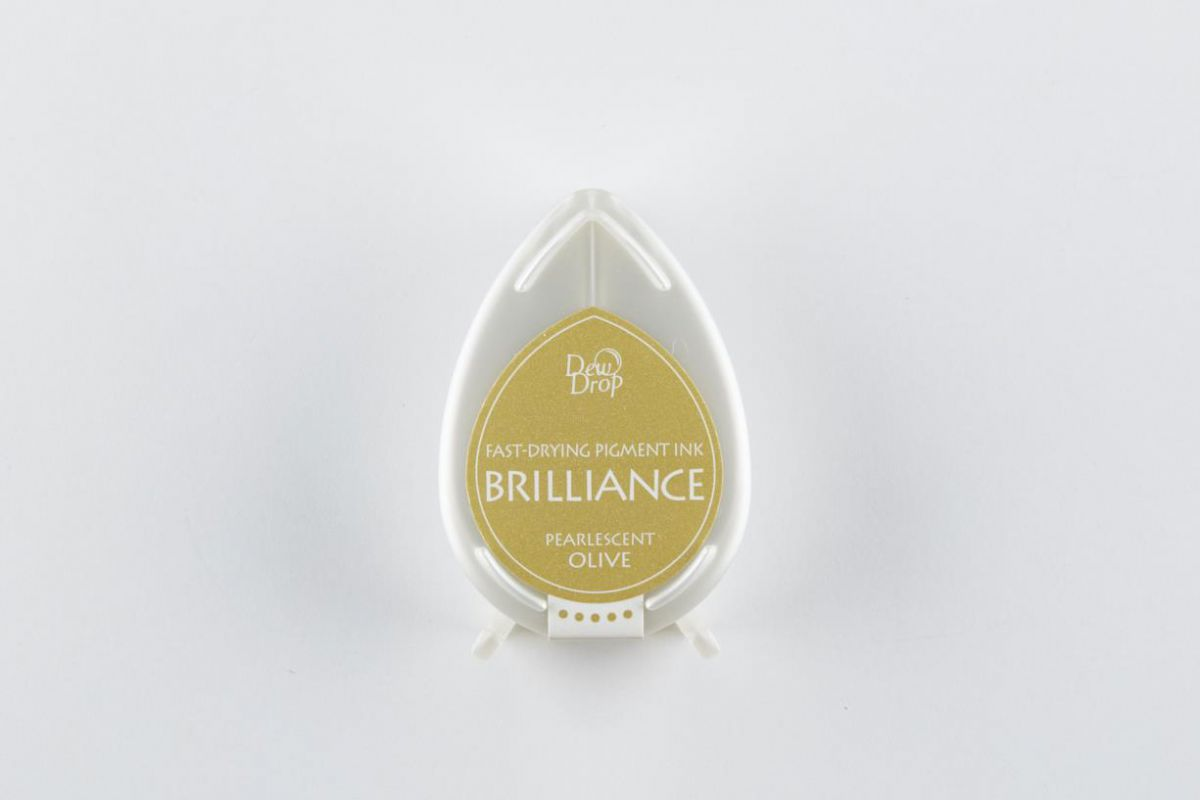 brilliance dew drop inktkussen pearlescent olive bd000053
