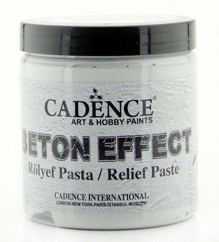 cadence beton effect relief paste gray br250 250 ml