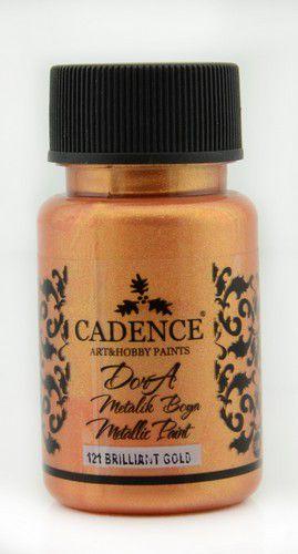 cadence dora metallic paint brilliant gold 01 011 0121 0050 50 ml