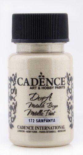 cadence dora metallic peinture acrylique champaigne 01 011 0172 0050 50 ml