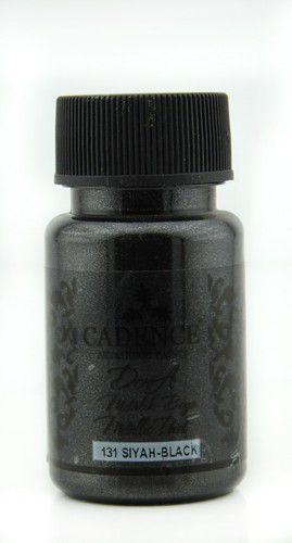 cadence dora metallic peinture acrylique noir 01 011 0131 0050 50 ml