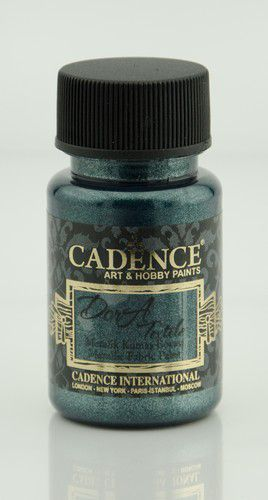cadence dora metallic peinture textile ptrole 01 012 1140 0050 50ml