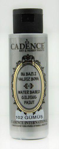 cadence gilding metallic acrylfarbe silber 01 035 0102 0070 70 ml