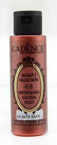 cadence gilding metallic acrylic paint antique copper 01 035 0104 0070 70 ml