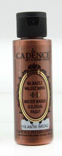 cadence gilding metallic peinture acrylique bronze antique 01 035 0118 0070 70 ml