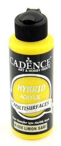 cadence hybrid acrylfarbe halbmatt zitronengelb 01 001 0008 0120 120 ml
